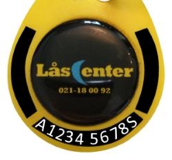 Låsbricka; A12345678S